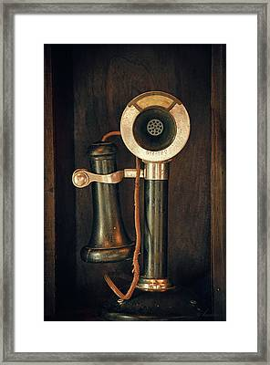 Old Candlestick Phone- Casa Loma, Toronto Framed Print by Maria Angelica Maira