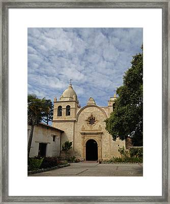 Old Carmel Mission Framed Print by Gordon Beck