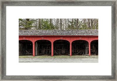 Old Carriage Shed Lyme New Hampshire Framed Print by Edward Fielding