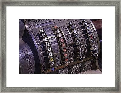 Old Cash Register Framed Print by Garry Gay