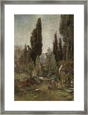 Old Cemetery Framed Print by Marie Egner