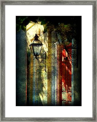 Old Charleston Sc Framed Print by Susanne Van Hulst