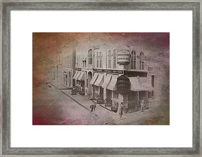 Old Chicago 02 Street View Textured Framed Print by Thomas Woolworth