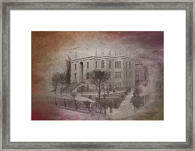 Old Chicago 03 Street View Textured Framed Print by Thomas Woolworth