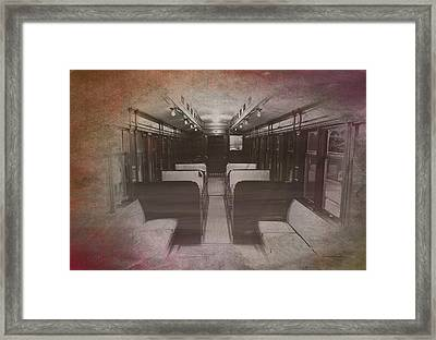 Old Chicago 05 Trains Textured Framed Print by Thomas Woolworth