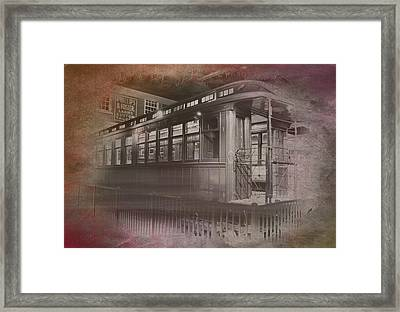 Old Chicago 06 Trains Textured Framed Print by Thomas Woolworth