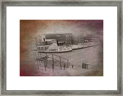 Old Chicago 07 River View Textured Framed Print by Thomas Woolworth