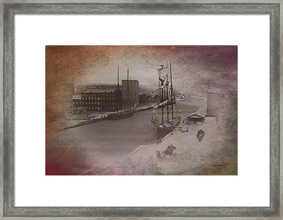 Old Chicago 08 River View Textured Framed Print by Thomas Woolworth