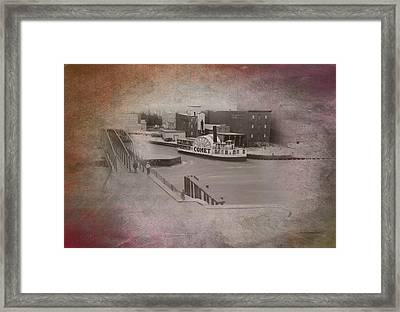 Old Chicago 10 River View Textured Framed Print by Thomas Woolworth