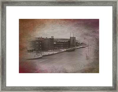 Old Chicago 11 River View Textured Framed Print by Thomas Woolworth