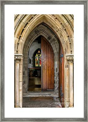 Old Church Entrance Framed Print by Adrian Evans