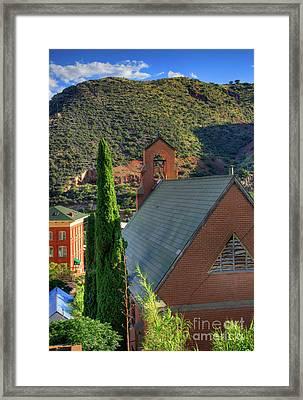 Old Church In Bisbee Framed Print by Charlene Mitchell