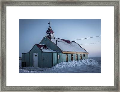 Old Church In Repulse Bay Framed Print by Eric Chamberland
