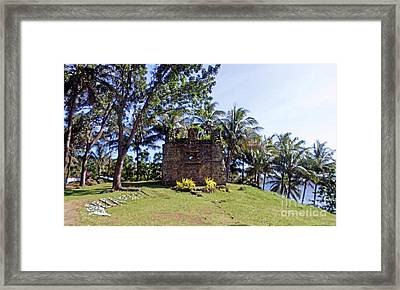 Old Church Ruins Of Camiguin Island Framed Print by Kay Novy
