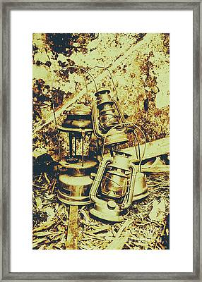 Old Colonial Oil Lanterns In Pile Framed Print by Jorgo Photography - Wall Art Gallery
