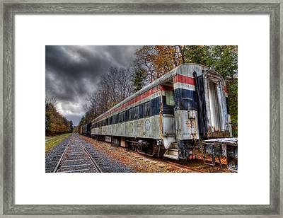 Old Connecticut Department Of Transportation Rail Car Framed Print by David Patterson