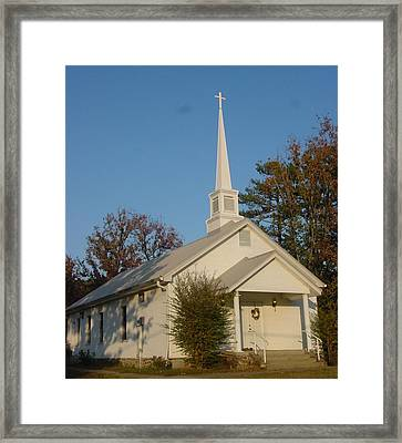 Old Country Church Framed Print by Kathy Bucari