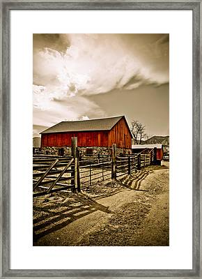 Old Country Farm Framed Print by Marilyn Hunt