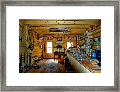 Old Country Store Framed Print by Ralph  Perdomo