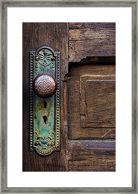 Old Door Knob Framed Print by Joanne Coyle