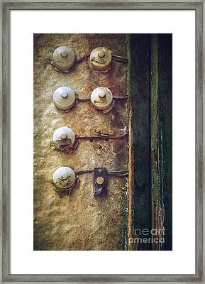Old Doorbells Framed Print by Carlos Caetano