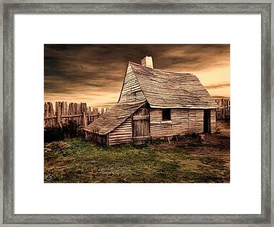 Old English Barn Framed Print by Lourry Legarde