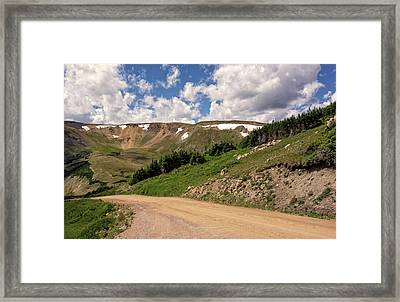 Old Fall River Road Framed Print by Loree Johnson