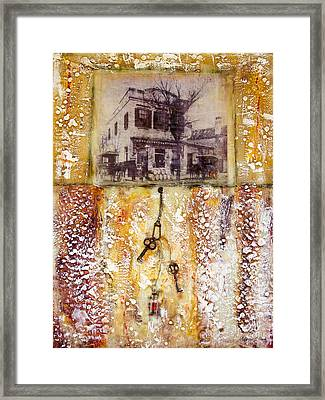 Old Family Store Charleston Sc Encaustic Framed Print by Bellesouth Studio