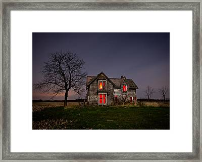 Old Farm House Framed Print by Cale Best