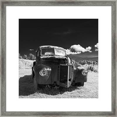 Old Farm Truck Infrared Framed Print by Edward Fielding