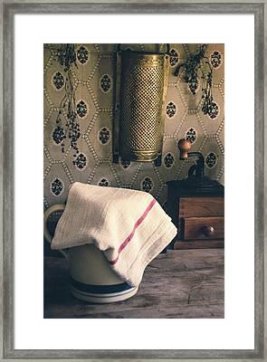 Old Farmhouse Kitchen Simple Life 12 Framed Print by Julie Palencia