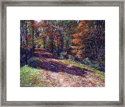 Old Farmhouse Road Framed Print by David Lloyd Glover