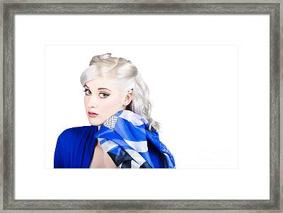 Old Fashion Portrait. Sexy Woman With Classic Hair Framed Print by Jorgo Photography - Wall Art Gallery