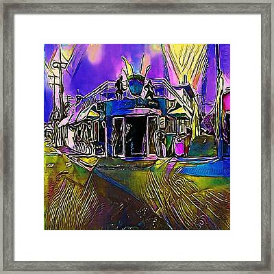 Old Fashioned Cafe Terrace Framed Print by Viktor Lebeda