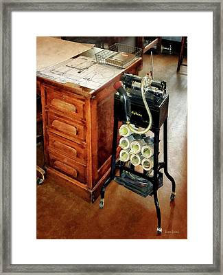 Old Fashioned Dictaphone Framed Print by Susan Savad