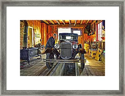 Old Fashioned Tlc - Paint Framed Print by Steve Harrington