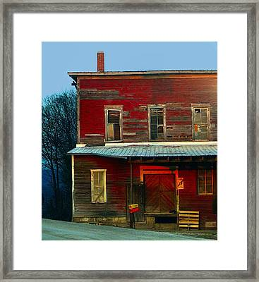 Old Feed Mill In The Afternoon Framed Print by Julie Dant