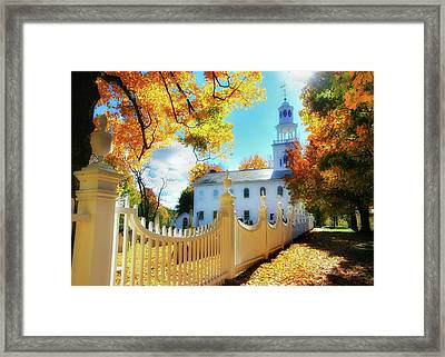 Old First Church Of Bennington Framed Print by Thomas Schoeller
