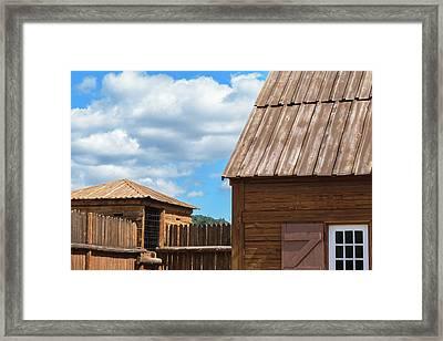 Old Fort Framed Print by Daniel LaFollette