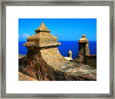 Old Fort Puerto Rico Framed Print by Perry Webster