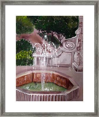 Old Fountain Framed Print by Anne Cameron Cutri