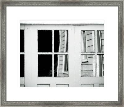 Old Garage Door Framed Print by Bonnie Bruno