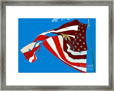 Old Glory Flying Framed Print by David Lee Thompson