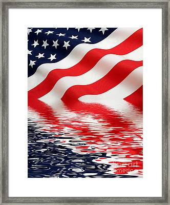 Old Glory Framed Print by Jerry McElroy
