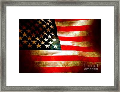 Old Glory Patriot Flag Framed Print by Phill Petrovic