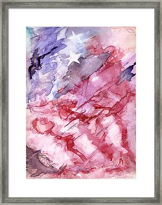 Old Glory Framed Print by Roger Parnow