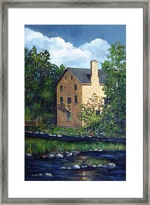Old Grist Mill In Canada Framed Print by Joyce Geleynse