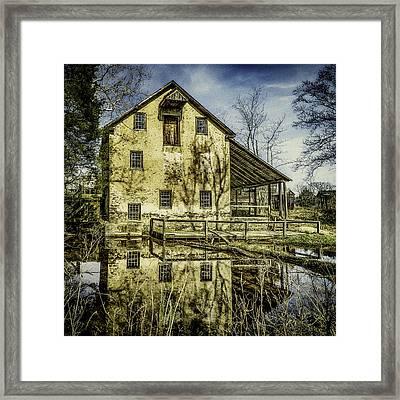 Old Grist Mill Framed Print by Nick Zelinsky