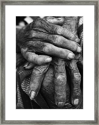 Old Hands 3 Framed Print by Skip Nall