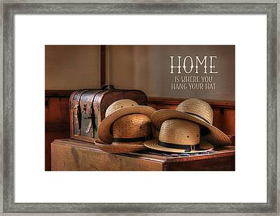 Old Hats Framed Print by Lori Deiter